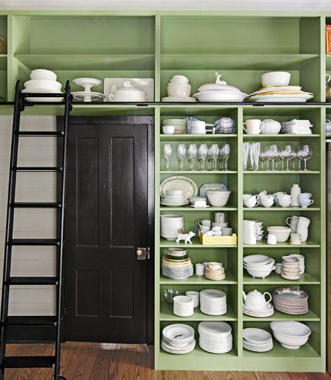 go big floor to ceiling kitchen shelves. Black Bedroom Furniture Sets. Home Design Ideas