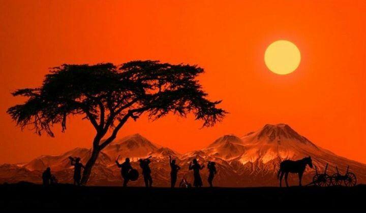 African moon Orange moons Pinterest