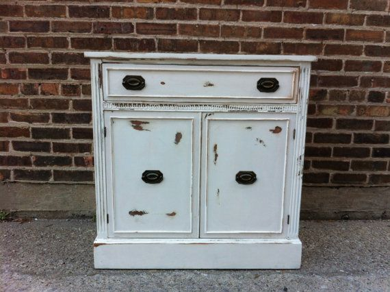 Love this vintage distressed cabinet from minthome, $199