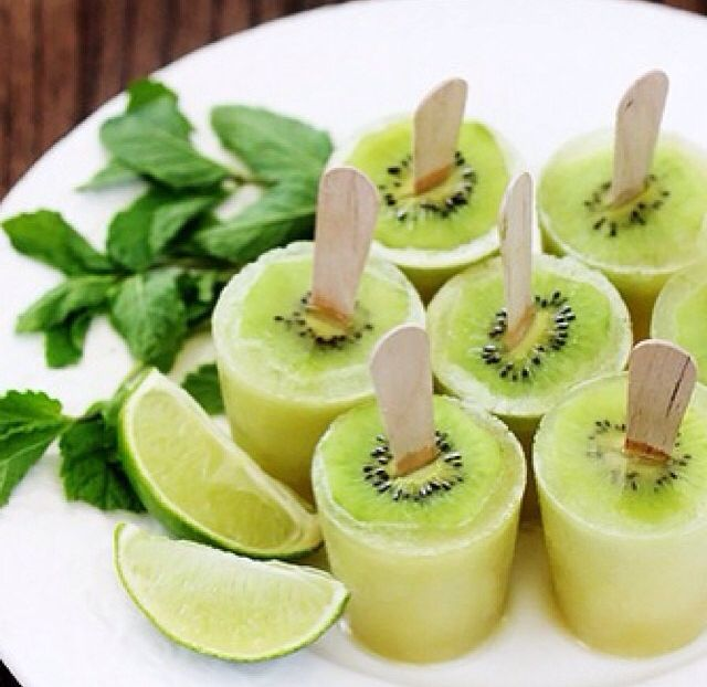 Kiwi Ice Pops Recipe — Dishmaps