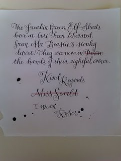A nicely written letter...