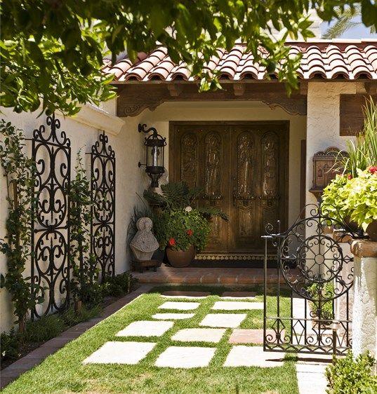 Wrought Iron Trellis And Gate Garden Porch Amp Patio