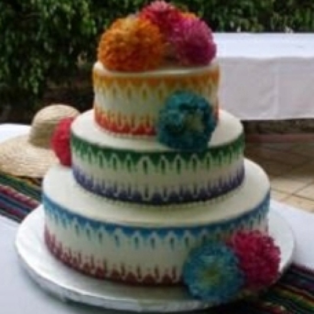 Mexican Style Wedding Cake | My Dream Wedding Charro Style ...