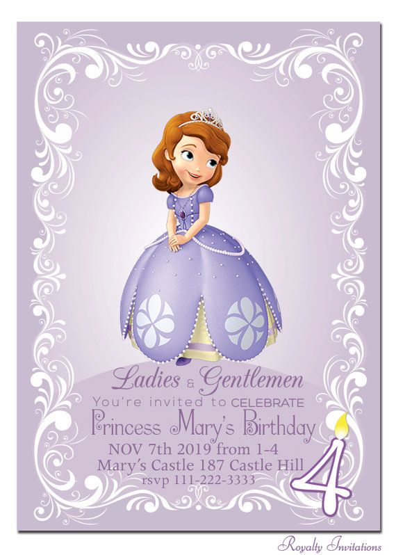 Princess sofia invitations party invitations ideas for Sofia the first crown template