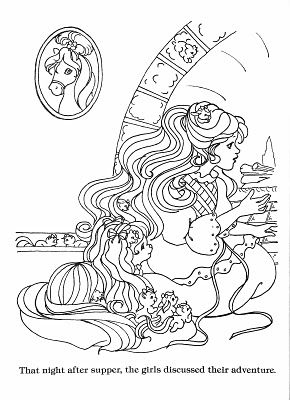 Found on for Lady lovely locks coloring pages