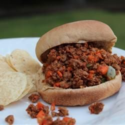 "Sloppy Joes II | ""With more vegetables and real garlic, these sloppy ..."