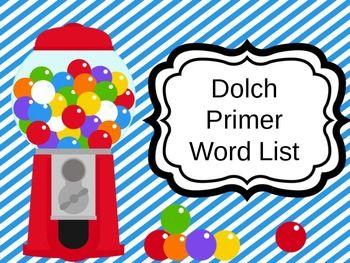 Dolch Primer Sight Words PowerPoint Presentation: http://pinterest.com/pin/296745062917026445/