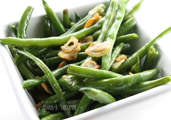 String Beans with Garlic and Oil - This is a quick, healthy side dish ...