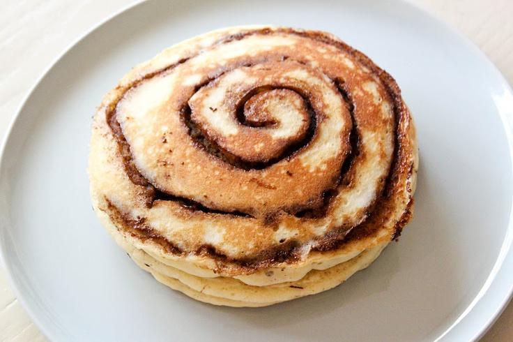 Cinnamon Roll Pancakes   Food.   Pinterest