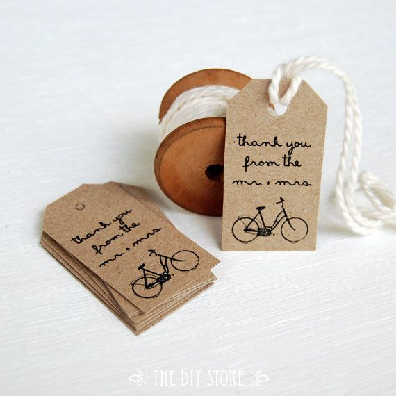 Wedding Thank You Gift Tags Template : Gift Tag Template, SMALL Vintage Bicycle Gift Tags, Favor tag, Gift T ...