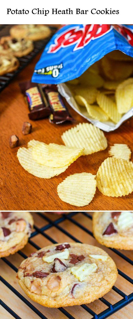 Potato Chip Heath Bar Cookies | Sweet tooth | Pinterest