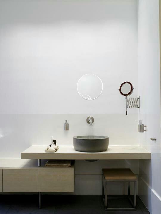 Concrete Vessel Sink On Floating Shelf Master Bathroom Pinterest