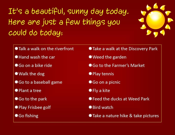 sunny day activities misc pinterest
