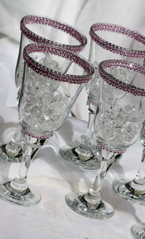 Wine glass wedding candle centerpieces table decorations for Wine glass decorations for weddings