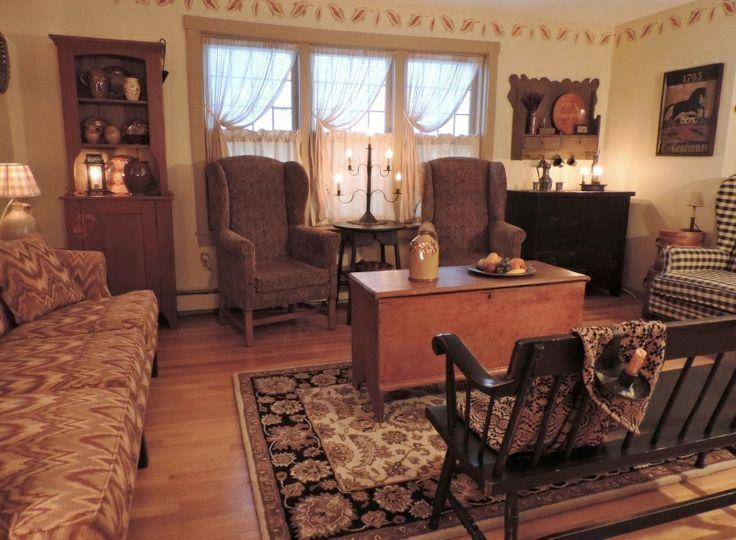 Living Room Primitive Livingroom Pinterest