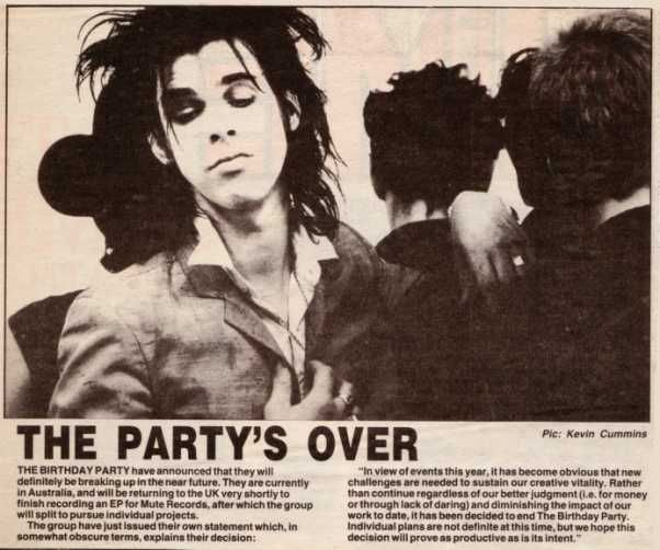The Birthday Party (Nick Cave)
