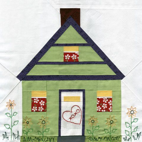 Free Quilt Patterns Of Houses : House Paper Piecing Quilt Pattern Quilts- different designs Pinte?