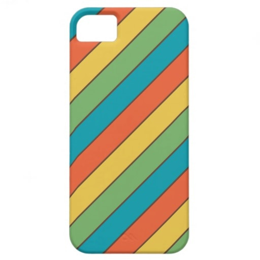 Colorful Diagonal Stripes Blue Green Orange Yellow Brown iPhone 5 CaseDiagonal Stripes Colorful