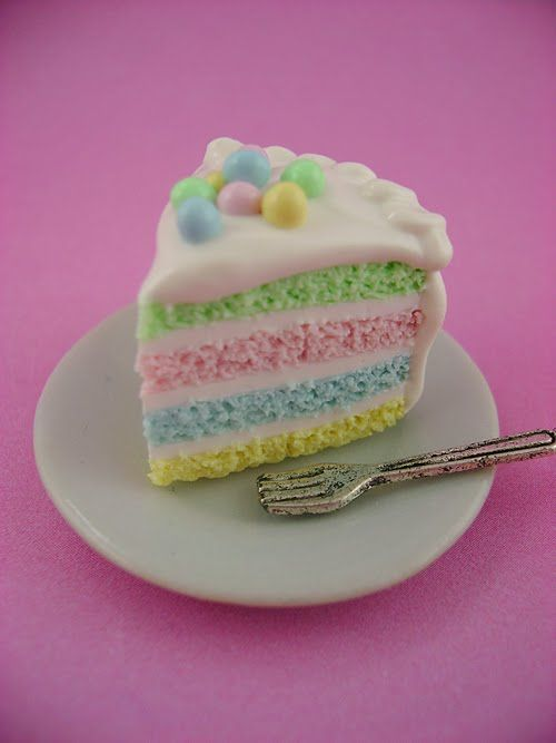 Cute pastel colors layer cake | Sweets... | Pinterest