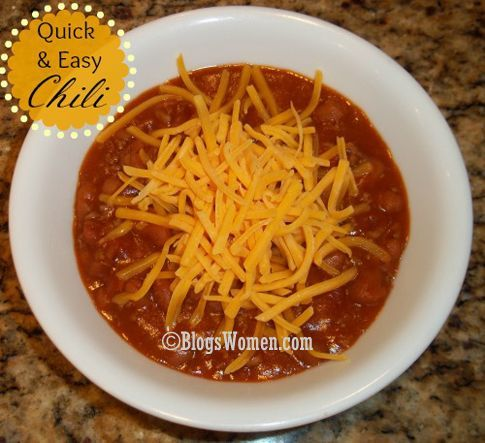 Quick and Easy Chili Recipe. | food | Pinterest