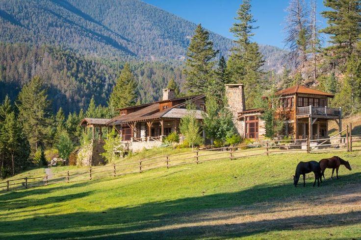 Montana log home dream log home pinterest for Custom home builders wyoming