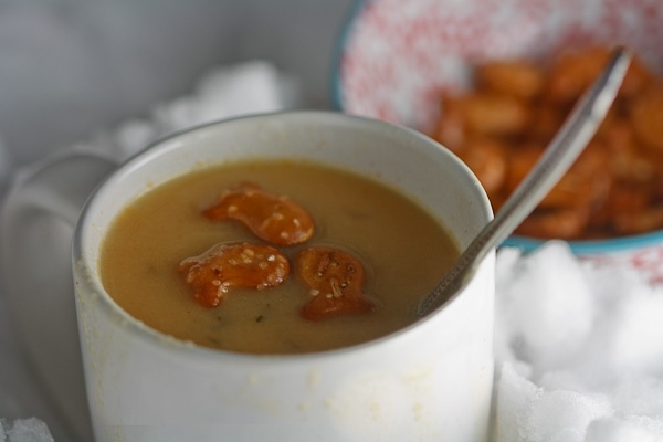 Cheddar and ale soup - healthier version | Bowls of goodness | Pinter ...