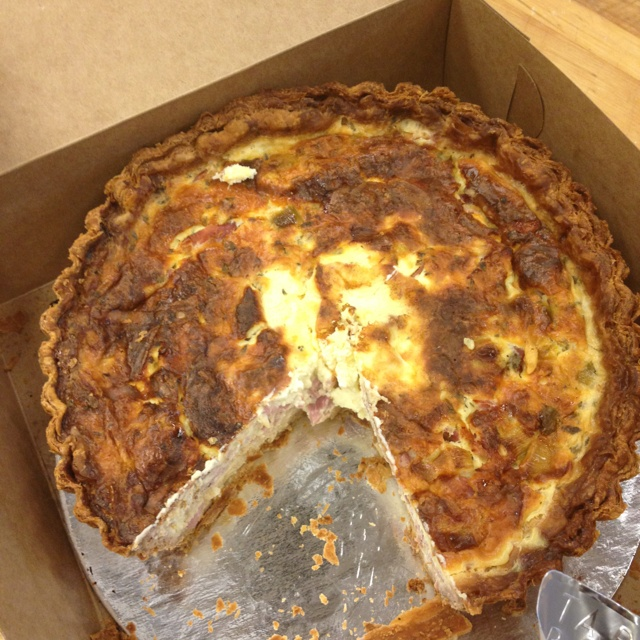 Ham and leek quiche from cafe tartine | recipes | Pinterest