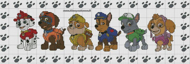 Схемы вышивки крестом щенячий патруль 33