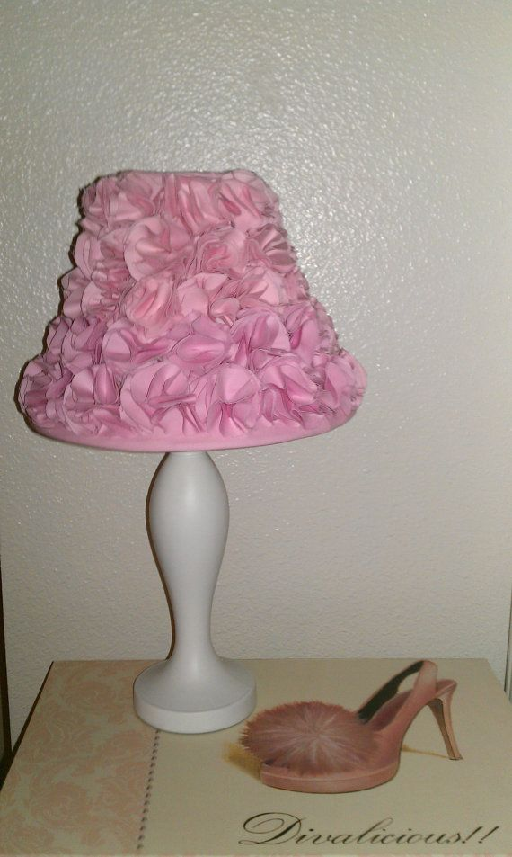 girls pink bedroom lamp shade by 70thavenue on etsy. Black Bedroom Furniture Sets. Home Design Ideas