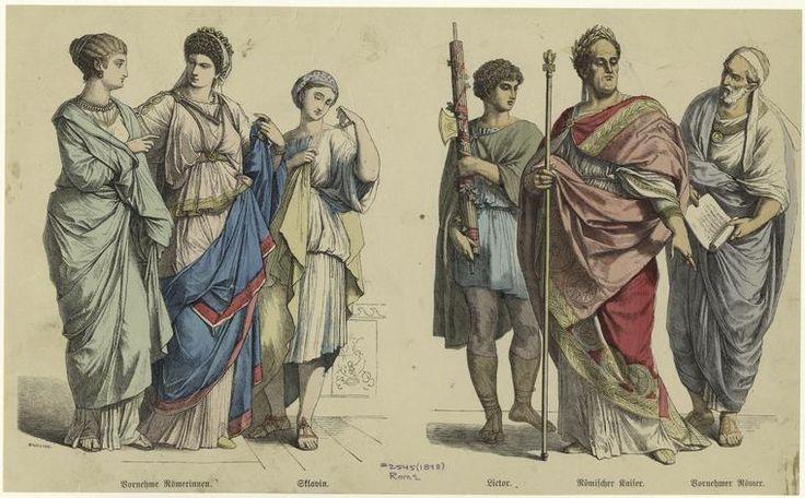 Bornehme Römerinnen ; Sklavin, Lictor, Römischer Kaiser ; Bornehmer Römer.jpg