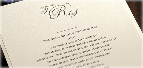 Wedding Invitation Etiquette - Wording Your Invitation - Examples (For ...