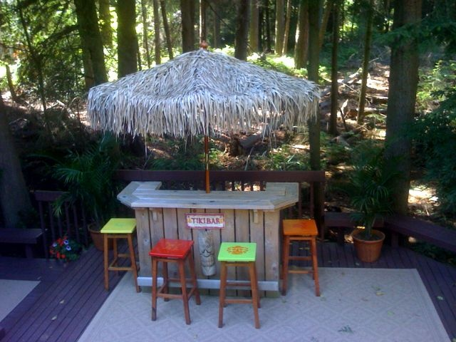 Backyard Tiki Bar Designs : Tiki Bars