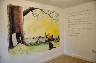 Classic winnie the pooh mural baby pinterest for Classic winnie the pooh mural