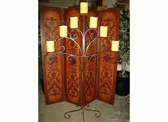 Hand-Painted Leather Screens | CURTAIN CALLS | Pinterest