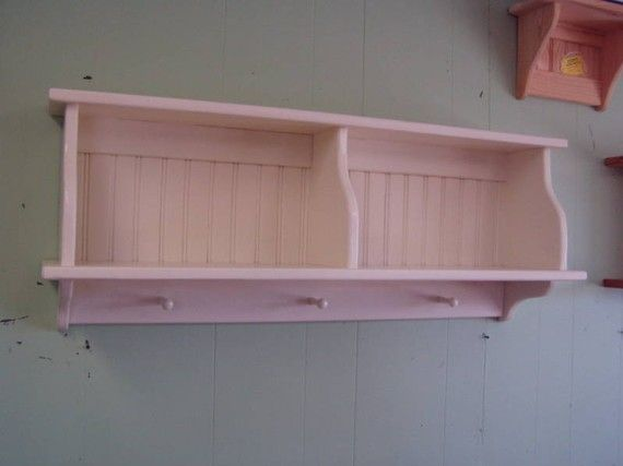 Kitchen cupboard wall shelf country hanging rack with for Wall pegs and racks