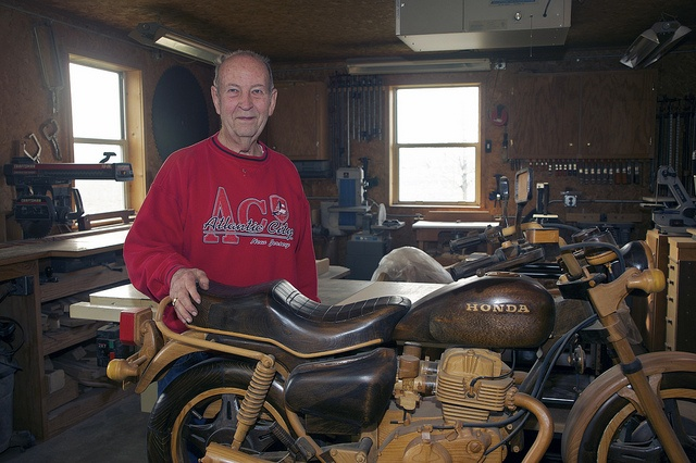Don Baker & His Honda CM-400 T Wooden Replica by The-Samizdat, via Flickr