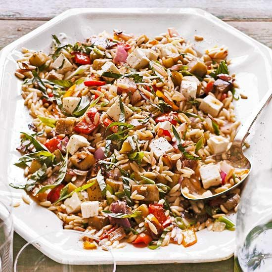 Orzo with Roasted Vegetables~Recipe developed by Ina Garten (aka the ...