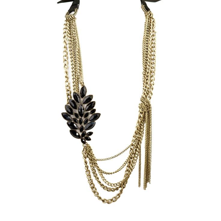 Rain Multi-Chain Flower Necklace Gold