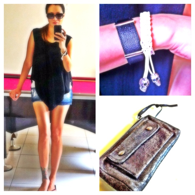 Denim with clutch bag and accessories...❤❤