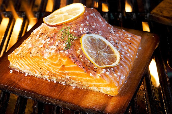 Grilled Cedar-Planked Salmon | For the Grill | Pinterest
