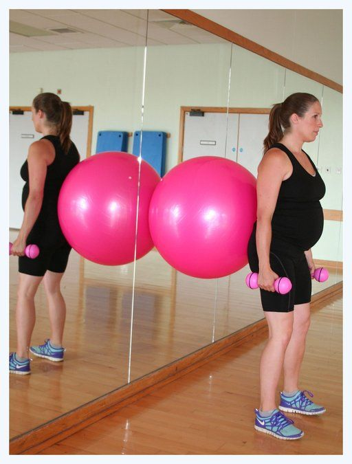 ... Performing exercises in pregnancy. Pregnancy workout exercise ball
