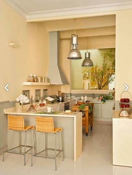 Cocinas peque as ideas para la casa y el jardin pinterest - Ideas para cocinas muy pequenas ...