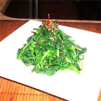 Korean seasoned spinach salad (namul) | Sides | Pinterest