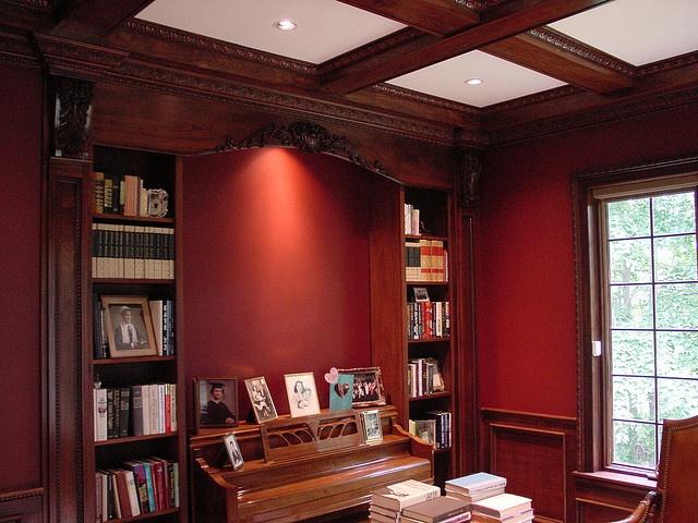 bookcases + piano