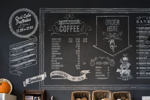 chalkboards can add to the atmosphere coffee shop chalk designs