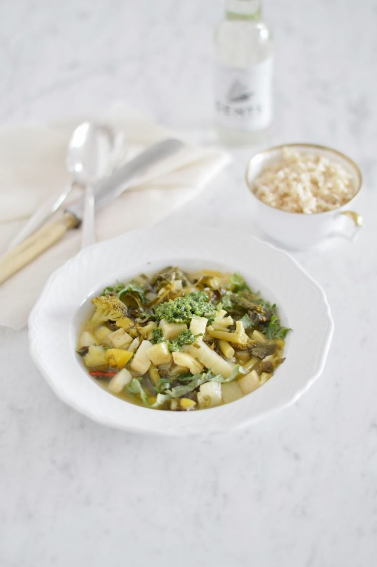 fork and flower: lemony fall superfoods soup with gremolata and brown ...