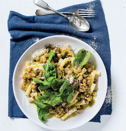 Pasta with brinjal, chickpeas and rocket | Easy Enjoyment | Pinterest