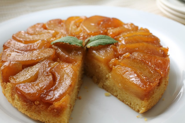 Apple-Cornmeal Upside Down Cake | Cakes | Pinterest