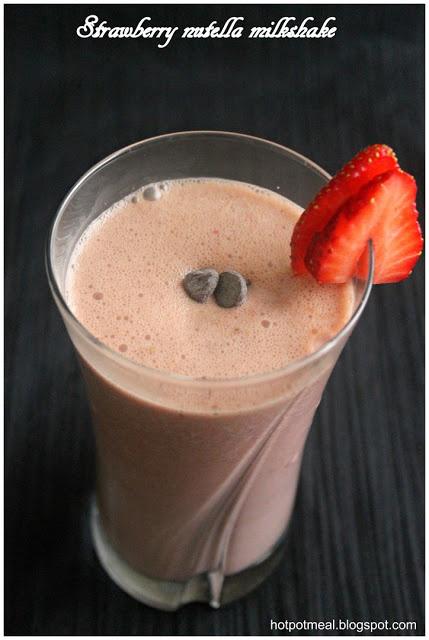 Strawberry nutella milkshake | Nutella | Pinterest