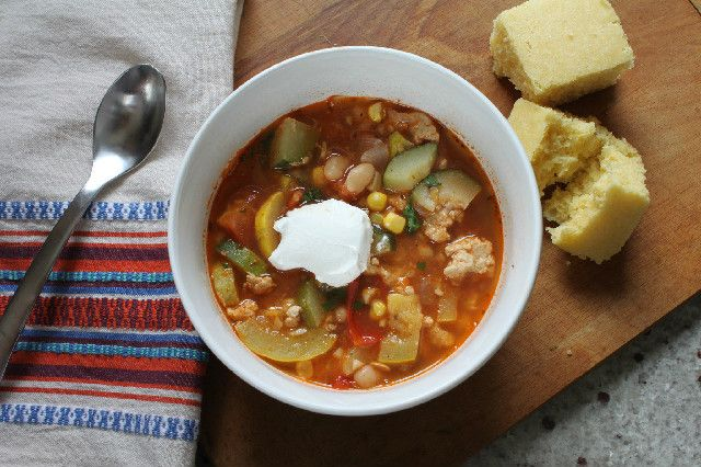 Summer Vegetable Chili via Kate's Thoughts for Food